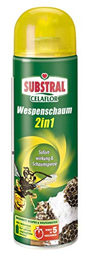 Celaflor Wespenschaum 2in1, gegen Wespennester, bis zu 3 Meter Sprühstrahl,...