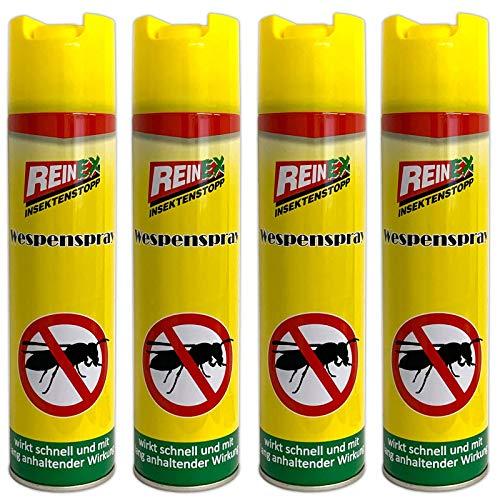 HAC24 4er Set Wespen Spray 400 ml Wespenspray Wespennest Bekämpfung...