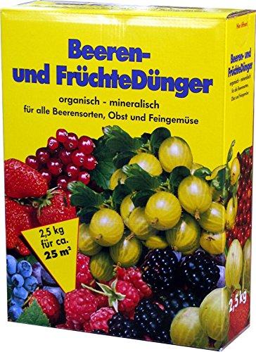 Beerendünger Früchtedünger 2,5 kg Packung Berren- und Früchtedünger