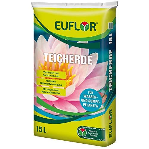 Euflor Teicherde 15 L Beutel, hochwertige Spezialerde für alle Wasser- und...