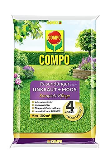 COMPO FLORANID Rasendünger gegen Unkraut+ Moos Komplett-Pflege, 3 Monate...