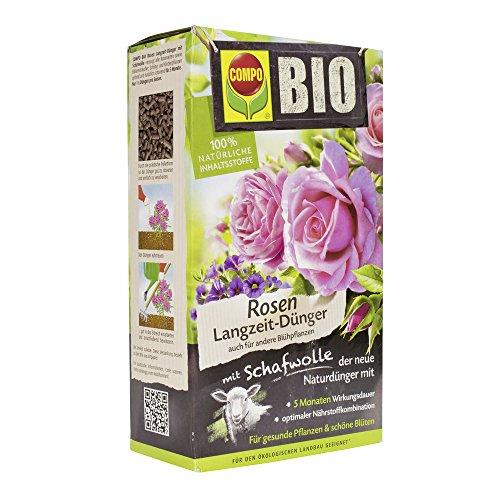 Compo BIO Rosen Langzeit-Dünger für alle Arten von Rosen, Blütensträucher...