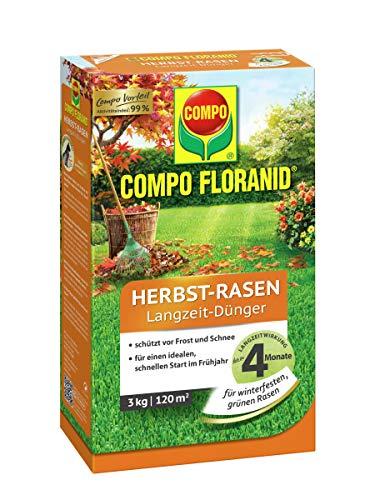 COMPO FLORANID Herbst-Rasen Langzeit-Dünger, 4 Monate Langzeitwirkung,...