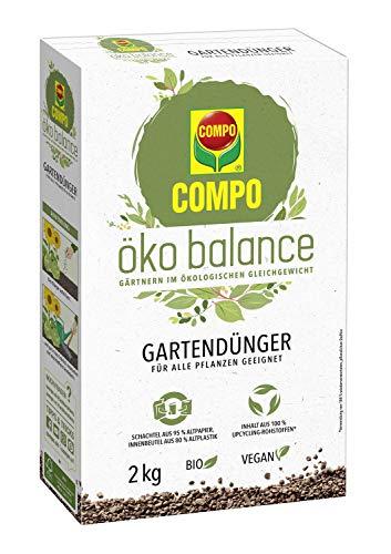 Compo öko balance Gartendünger, Für alle Pflanzen geeignet, Bio, Vegan, 2 kg
