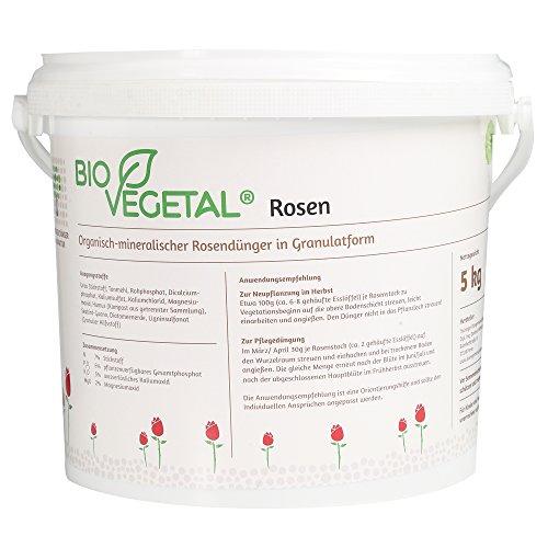 BioVegetal organisch-mineralischer Rosendünger mit Guano und natürlicher...