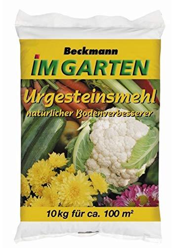 Urgesteinsmehl Bodenhilfsstoff Bodenverbesserer Beckmann 10 kg für ca. 100 m²