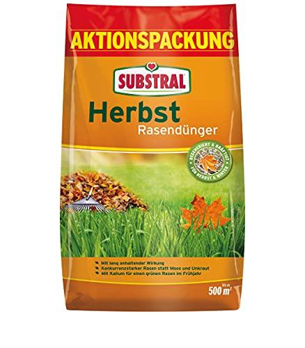 Substral Herbst Rasendünger, kaliumreicher Spezial-Rasendünger mit lang...