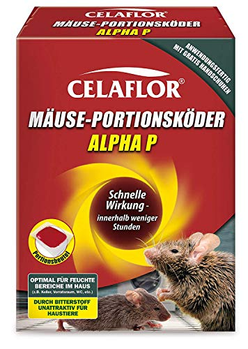 Celaflor Mäuse-Portionsköder Alpha P, Anwendungsfertiger, attraktiver Köder...