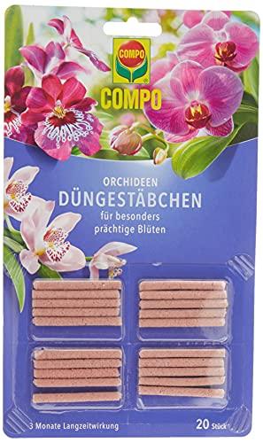 COMPO Düngestäbchen für Orchideen, 3 Monate Langzeitwirkung, 20 Stück
