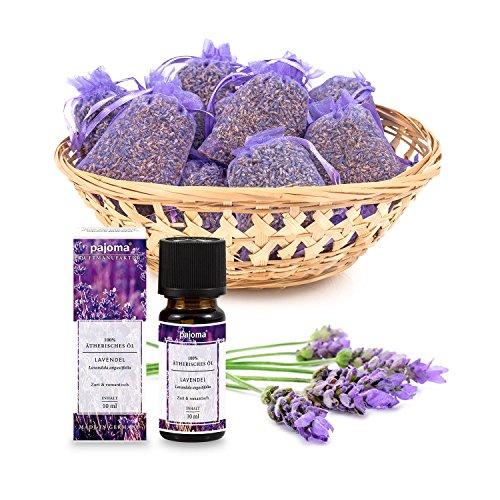 pajoma Lavendelset, 10x Duftsäckchen Lavendel plus 1x ätherisches Duftöl...