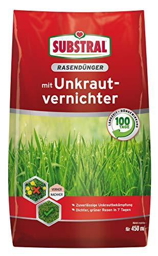 Substral Rasendünger, mit Unkrautvernichter - Profiqualität mit 100 Tage...