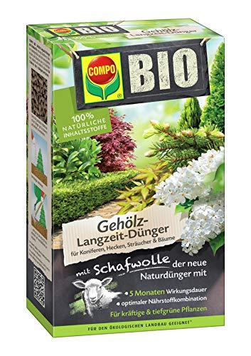 Compo BIO Gehölz-Langzeit-Dünger mit Schafwolle für Koniferen, Hecken,...