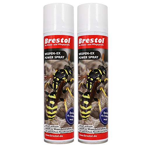 WESPEN-EX Power Spray 2x 400 ml -- Wespenspray Pyrethrum Insektizid Wespenabwehr...