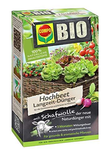COMPO BIO Hochbeet Langzeit-Dünger für Gemüse, Obst, Kräuter und andere...