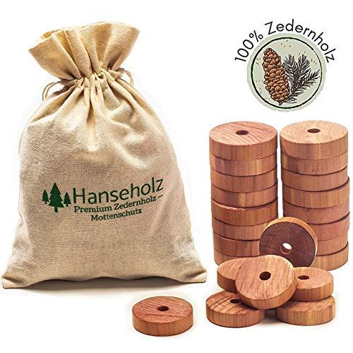 Hanseholz 40x Natürlicher Bio Mottenschutz und Baumwollbeutel - 100% Bio...