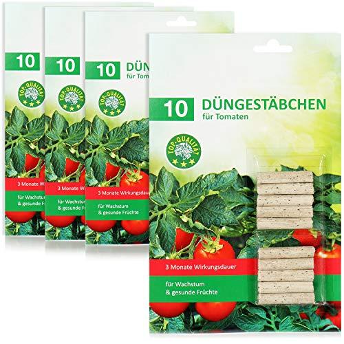 com-four® 40x Düngestäbchen für Tomaten, ausgewogener Tomaten-Dünger mit...