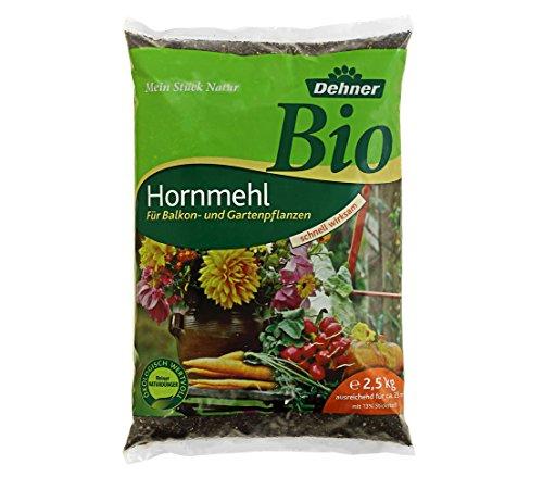 Dehner Bio Dünger, Hornmehl, für Balkon- und Gartenpflanzen, 2.5 kg, für ca....