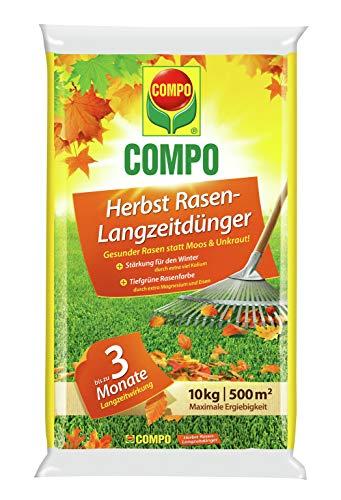 Compo Herbst-Rasen Langzeit-Dünger, 3 Monate Langzeitwirkung, Granulatform, 10...