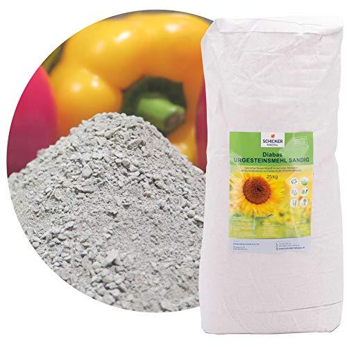 sandiges Diabas Urgesteinsmehl 25kg von Schicker Mineral, Lava Gesteinsmehl 0-2...