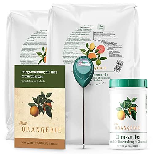Meine Orangerie Zitrus-Pflegepaket Mezzo: Beste Zitruserde + starker...