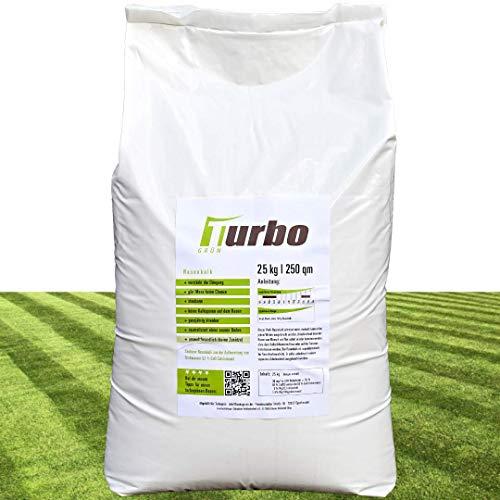 Turbogrün Rasenkalk und Gartenkalk 25kg, Rasenkalk gegen Moos, verstärkt...