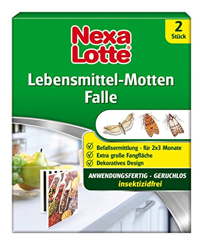 Nexa Lotte Lebensmittel-Motten Falle, Mottenbekämpfung, Anwendungsfertige,...