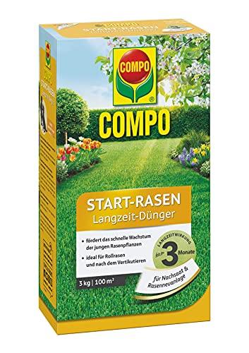 COMPO Start-Rasen Langzeit-Dünger, Für junge Rasenpflanzen und für Rollrasen...