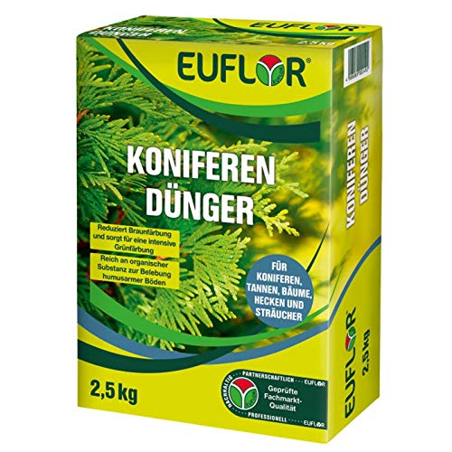Euflor Koniferendünger 2,5 kg•Organisch-mineralischer NPK-Dünger 5+4+6 mit...