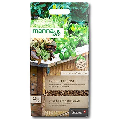 Hauert MANNA® Bio Hochbeetdünger 0,5 kg Gemüse, Kräuter, Salat