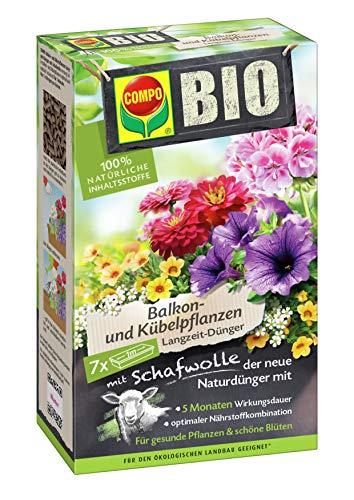 Compo BIO Balkon- und Kübelpflanzen Langzeit-Dünger, 5 Monate Langzeitwirkung,...