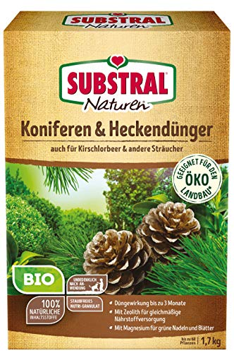 Substral Naturen Bio Koniferen- und Hecken, Organisch-mineralischer Volldünger...