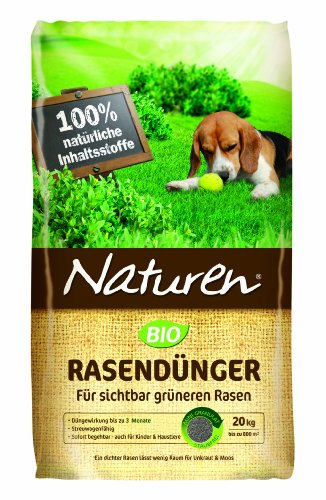 Naturen Bio Rasendünger - Organischer Volldünger mit natürlicher...