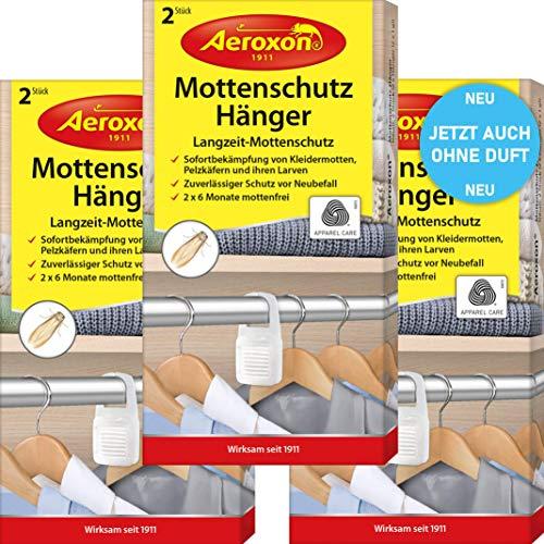 Aeroxon Mottenschutz-Hänger - 3x2 Stück - NEU vollkommen geruchlos -...