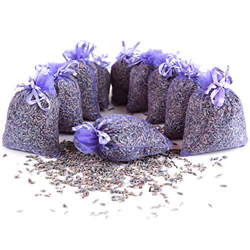 Quertee 10 x Lavendelsäckchen Mottenschutz als Duftsäckchen mit französischen...