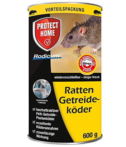 PROTECT HOME Rodicum Ratten Getreideköder praktische Portionsbeutel zur...