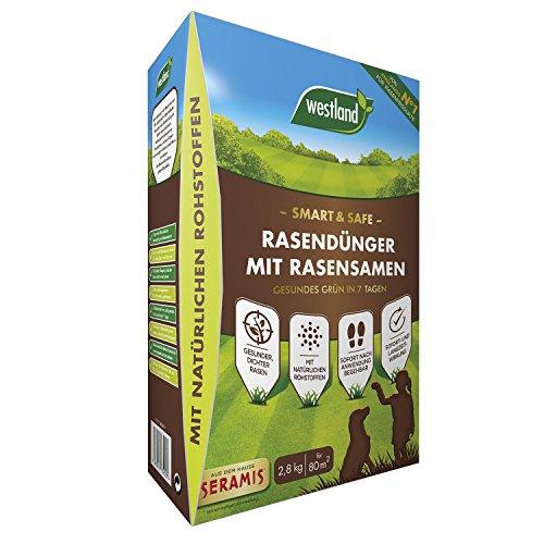 Westland Smart & Safe Rasendünger mit Rasensamen, Gesundes Grün in 7 Tagen,...