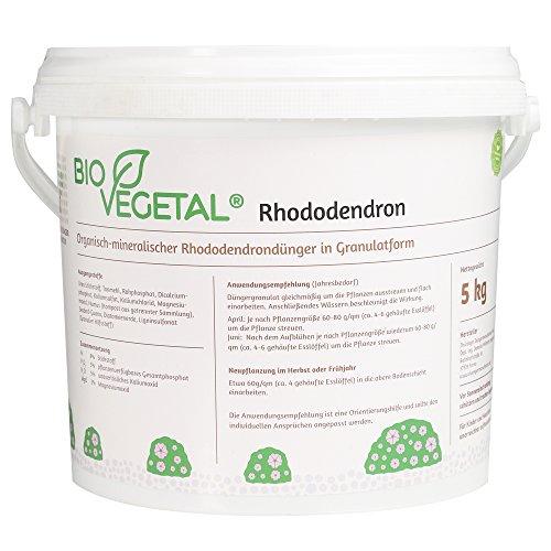 BioVegetal Rhododendrondünger mit Guano und natürlicher Langzeitwirkung durch...