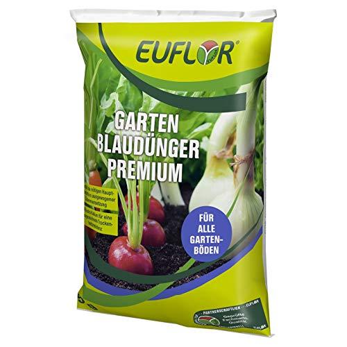 Euflor Garten Blaudünger Premium 5kg Sack•NPK-Dünger 15+5+20 mit 2% MgO und...