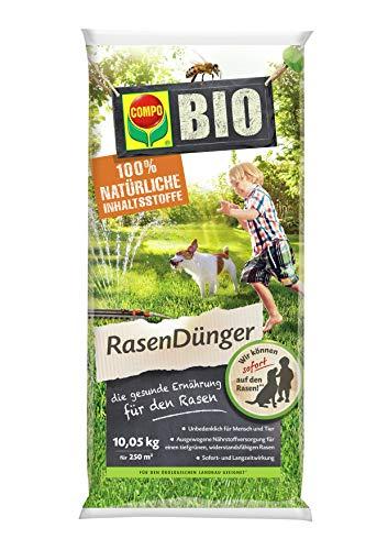 Compo BIO NaturDünger für Rasen, Natürliche Sofort- und Langzeitwirkung,...