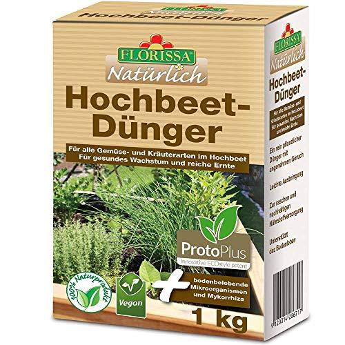 Florissa Natürlich 58671 Hochbeetdünger | VEGAN mit rein pflanzlichen...
