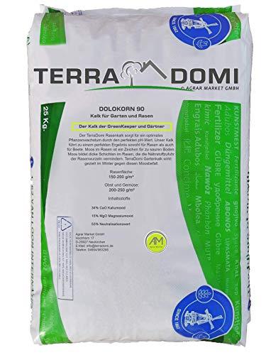 Terra Domi 25 kg Rasenkalk für Winter und Frühjahr I Gartenkalk gegen Moos I...