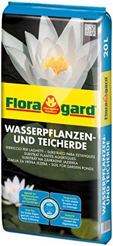 Floragard Wasserpflanzen- & Teicherde 20 L für Gartenteiche, Pflanzkörbe,...