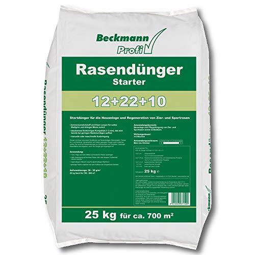 Beckmann Profi Rasendünger Starter 25 kg Rasenstarter Dünger mit viel Phosphat...