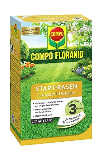 COMPO FLORANID Start-Rasen Langzeit-Dünger, 3 Monate Langzeitwirkung,...