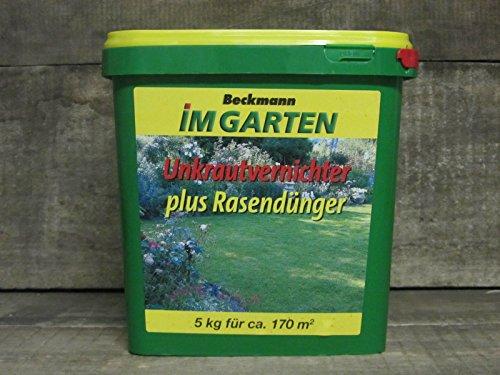 Unkrautvernichter plus Rasendünger - Beckmann im Garten, 5 kg, für 170...