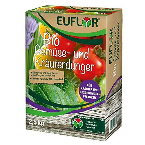 Euflor Bio Gemüse- und Kräuterdünger 2,5 kg Faltschachtel•Organischer...