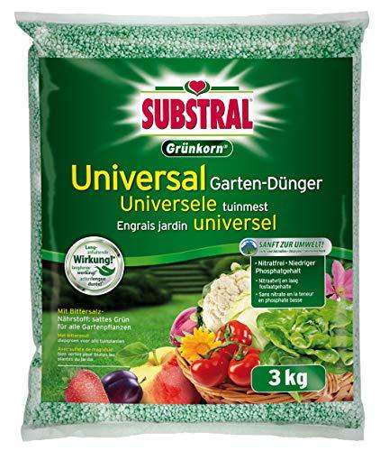 Substral Grünkorn Universal, Hochwertiger, nitratfreier Gartendünger für...