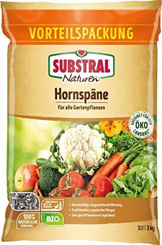 Substral Naturen Bio Hornspäne, natürlich organischer Stickstoffdünger mit...