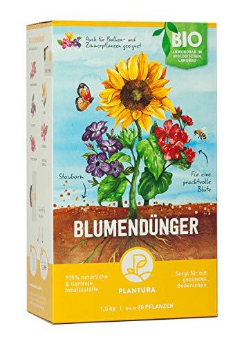 Plantura Bio Blumendünger mit 3 Monaten Langzeitwirkung für den Garten &...