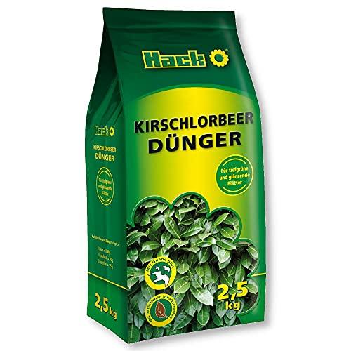 HACK Kirschlorbeerduenger 2,5 kg Heckendünger Strauchdünger Blattdünger